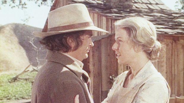 Charles (Michael Landon, l.) verschweigt seiner Frau Caroline (Karen Grassle,...