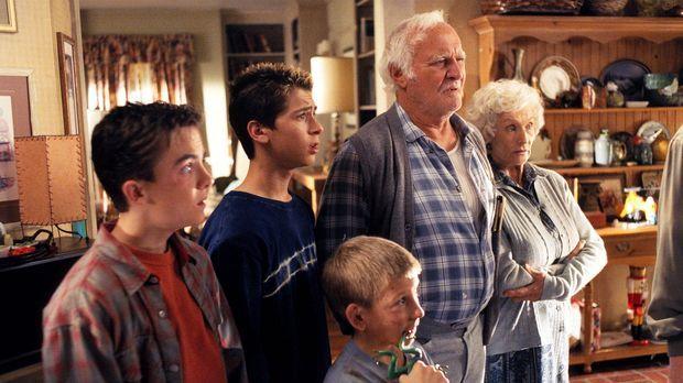 (v.l.n.r.) Malcolm (Frankie Muniz), Reese (Justin Berfield), Dewey (Erik Per...