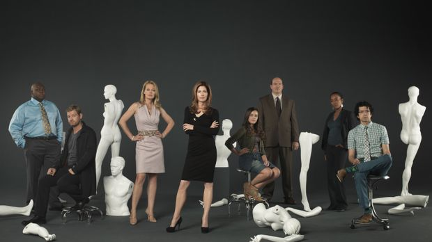 (2. Staffel) - Body of Proof: Ethan (Geoffrey Arend, r.), Curtis (Windell D....
