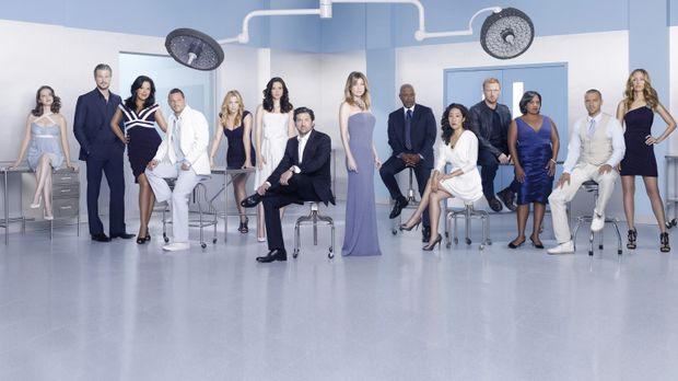 (7. Staffel) - Grey's Anatomy: (v.l.n.r.) April (Sarah Drew), Mark (Eric Dane...