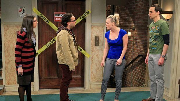 Ein Streit zwischen Sheldon (Jim Parsons, r.) und Leonard (Johnny Galecki, 2....