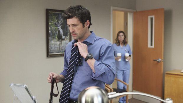 Derek (Patrick Dempsey, l.) übernimmt vorübergehend den Posten als Chief und...