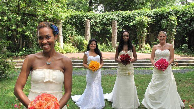 Wer feiert die perfekte Hochzeit? Alexis, Karen, Dashina oder Jessica? © 2011...