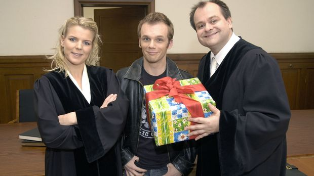 Bei Mirja Boes, Ralf Schmitz und Markus Majowski (v.l.n.r.), den Darstellern...