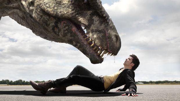 Auge in Auge mit einem fleischfressenden Giganotosaurus: Connor (Andrew Lee P...