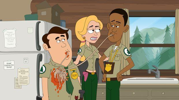 Ethel (M.) sagt  zwar, dass Denzel (r.) und Steve (l.) perfekt zusammenpassen...