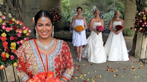 Welche Braut wird die traumhaften Luxus-Flitterwochen gewinnen? Anna (r.), Na...